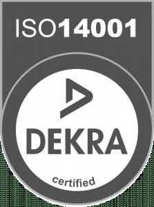 Dekra certified ISO 14001
